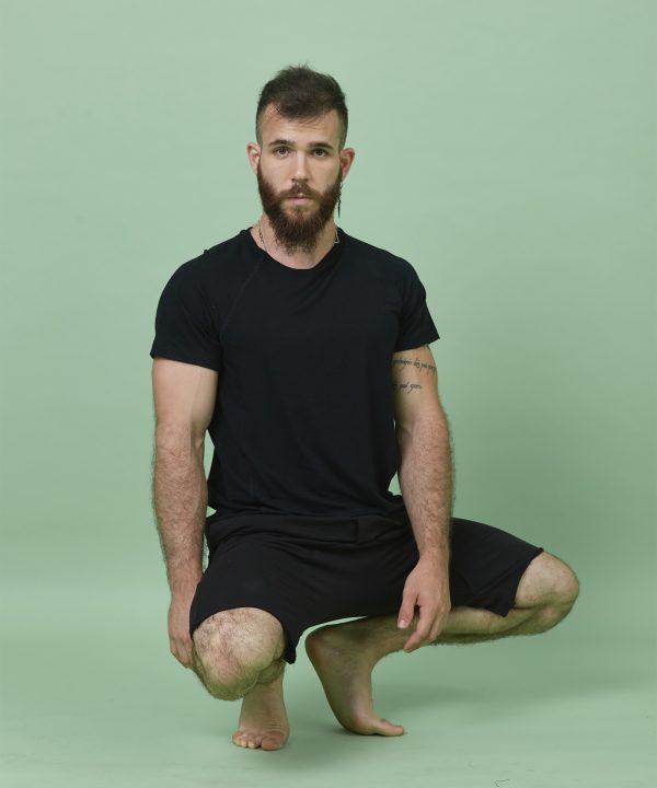 T-Shirt Men Bamboo black front
