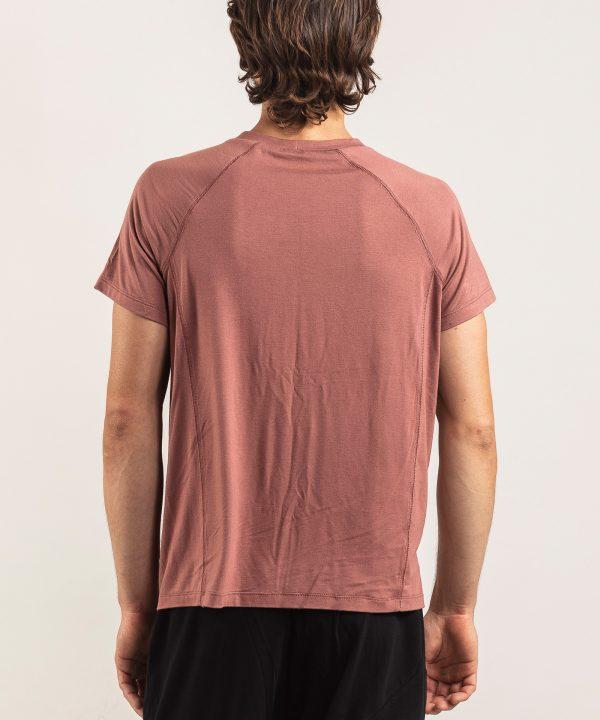T-Shirt Men Bamboo terracotta back