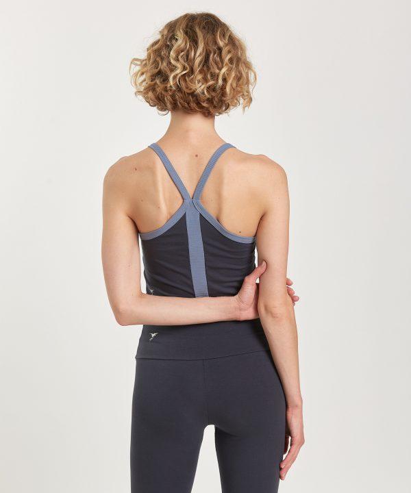 Yoga Top crop zweifarbig