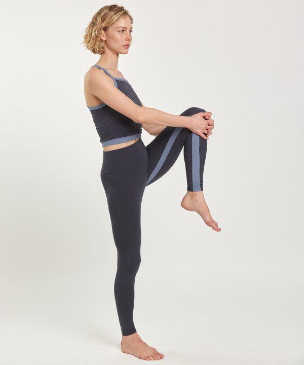 Yoga Leggings zwei farbig hoch geschnitten