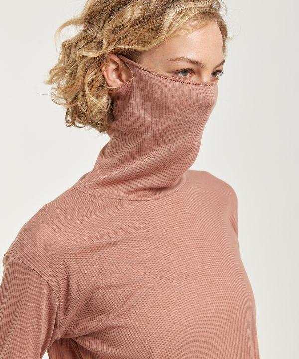 Maske Rollkragenpullover blush