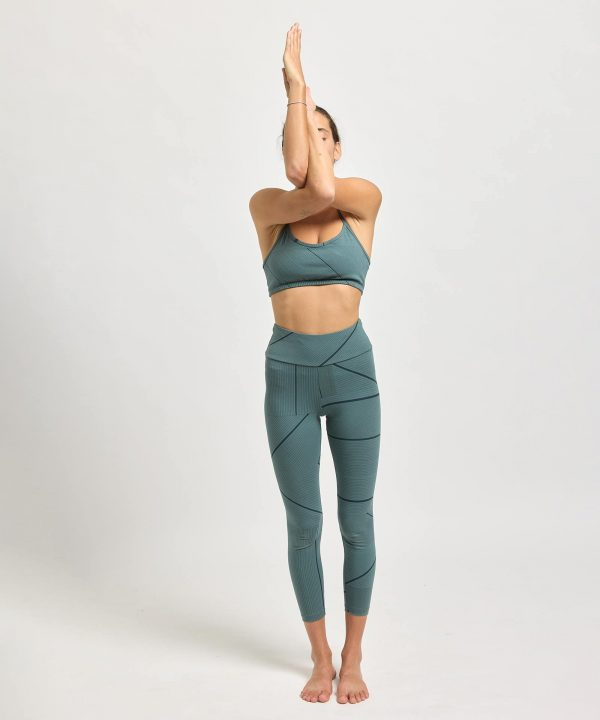 Yoga BH V sage print